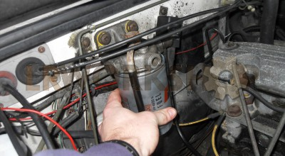 Changing a 200Tdi fuel filter