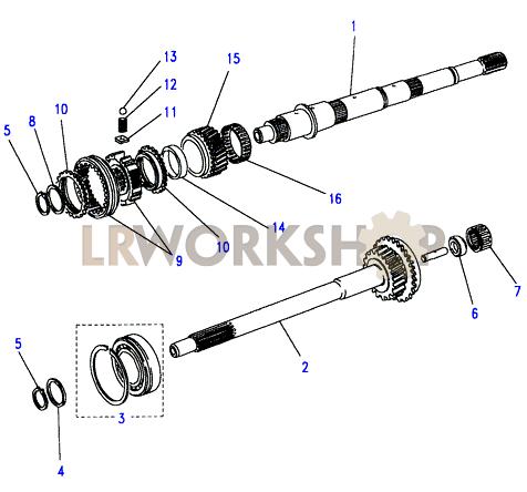 mainshaft & pinion - land rover workshop g56 diagram main shaft 2014 ford focus wiring diagram main relay