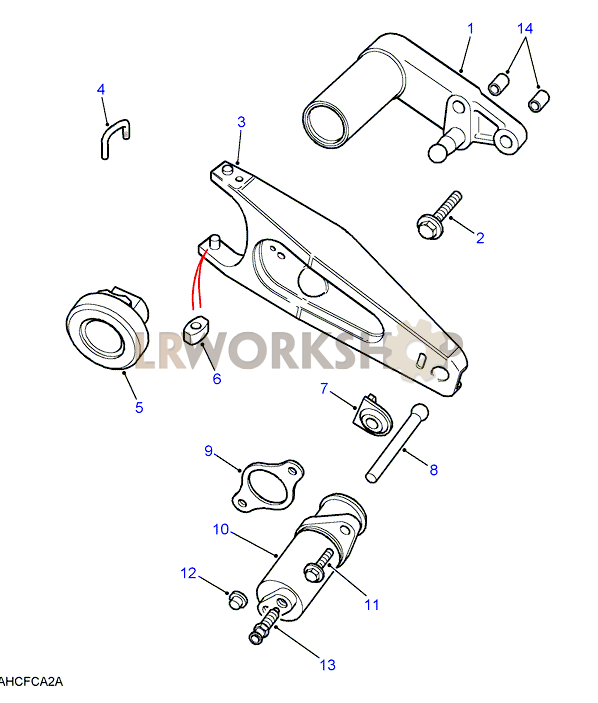 clutch release mechanism - 200tdi  300tdi