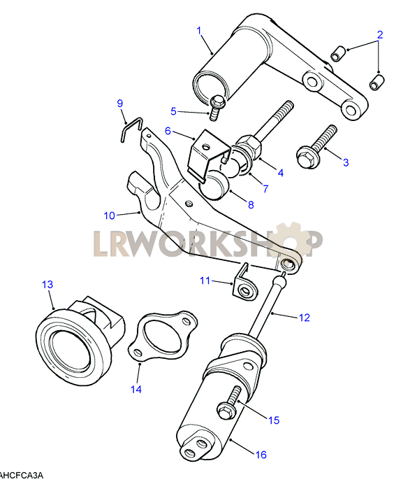 clutch release mechanism - 3 5 v8