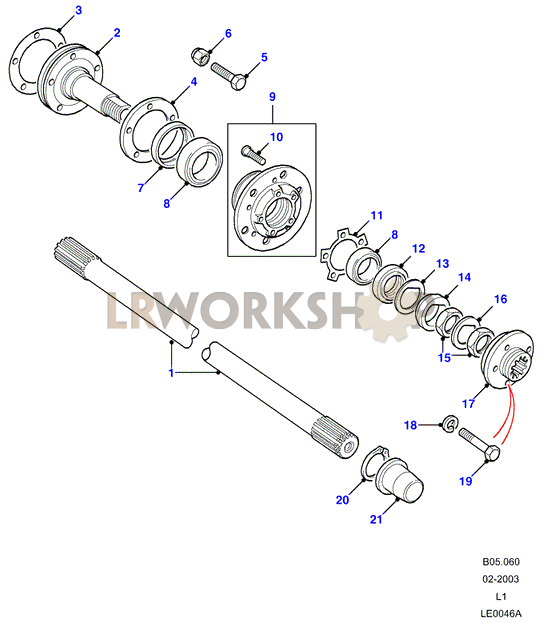 hubs  u0026 drive shafts - to ka930455