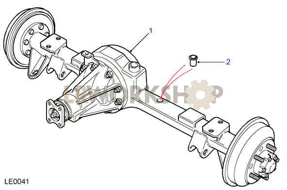 Wondrous Rear Axle Assembly Land Rover Type Axle With Rear Drum Brakes 90 Wiring 101 Ferenstreekradiomeanderfmnl