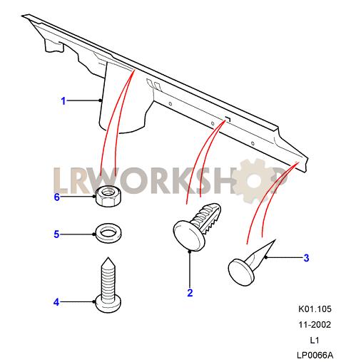 Verkleidungsleiste - Bis Part Diagram
