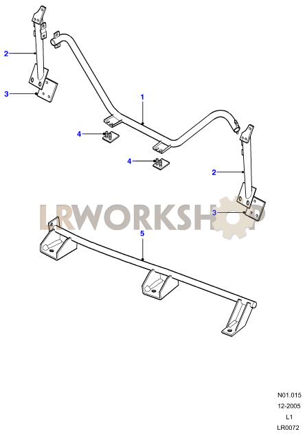 Anchorage - Rear Inward Facing Seats - 90 Part Diagram