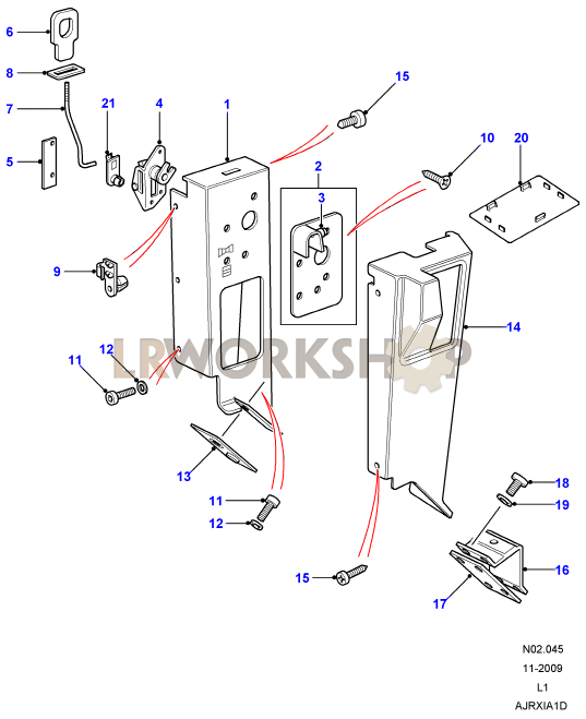second row seats  60  40  - latch mechanism