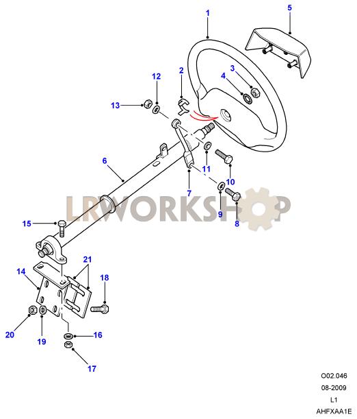 Defender Black - Steering Part Diagram