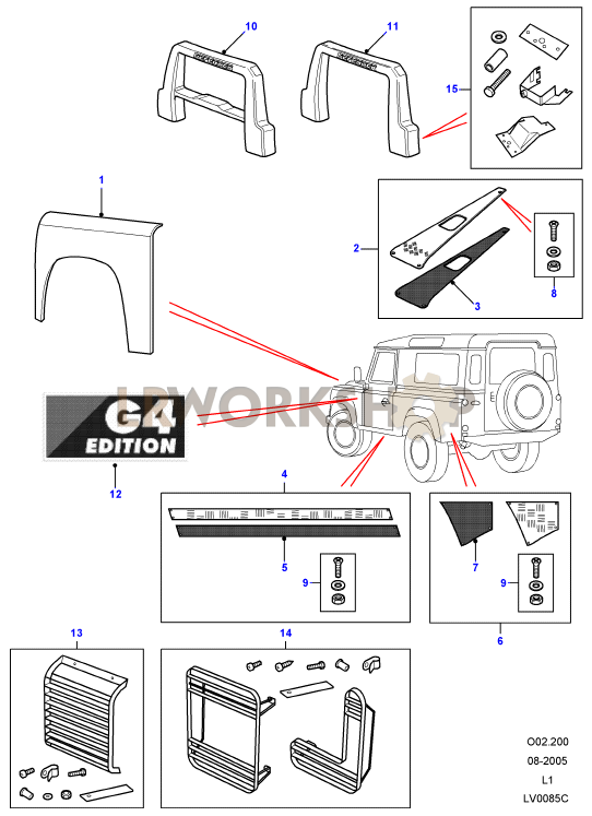 g4 le - exterior trim