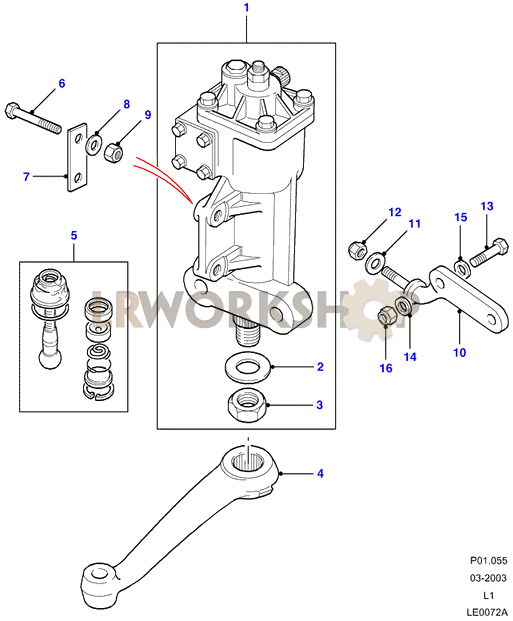 Steering Boxmanualgemmer on 2006 Range Rover Part Diagrams