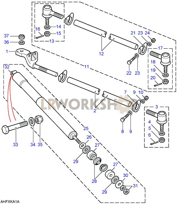 track rods  u0026 damper