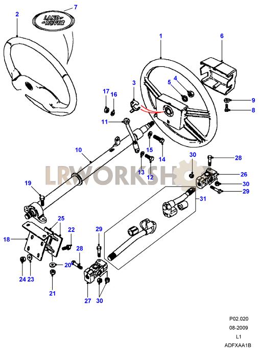 steering wheel  u0026 column - to ma962814