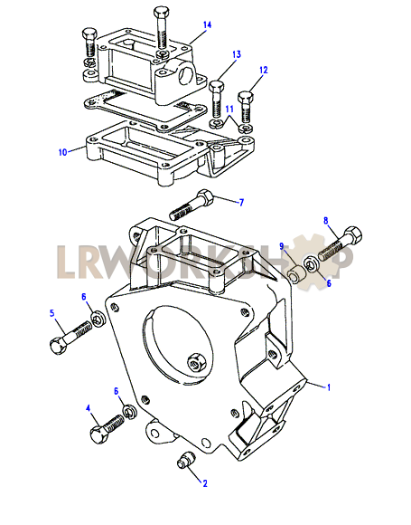 adaptor housing - lt85
