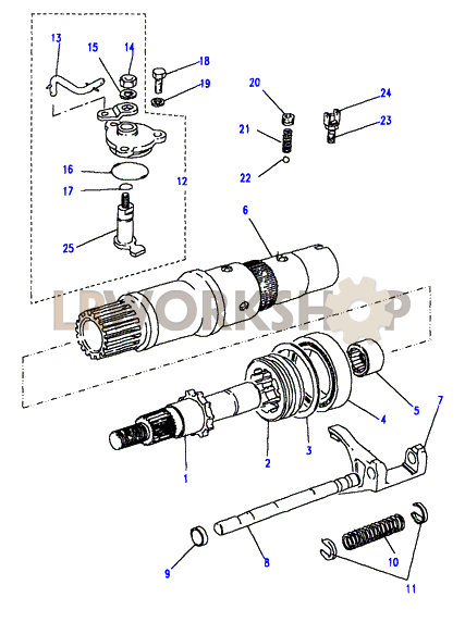 front output shaft - 13d