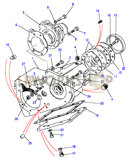 Main Casing D on 2006 Range Rover Part Diagrams
