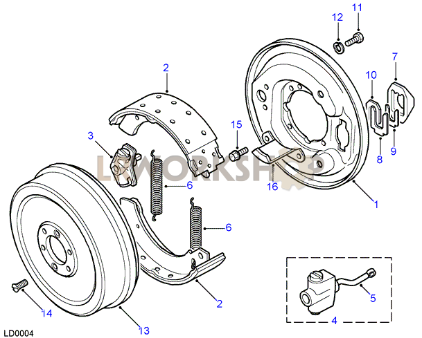 transmission brake - rod operated