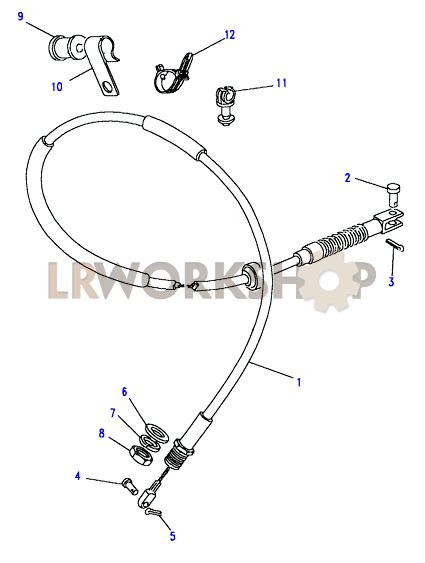 Land Rover Defender Accelerator Cable 300 TDi