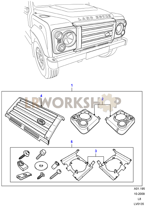Headlamp Surrounds And Grille - Svx