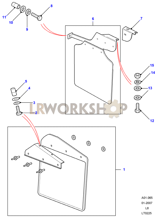 Mudguards Part Diagram