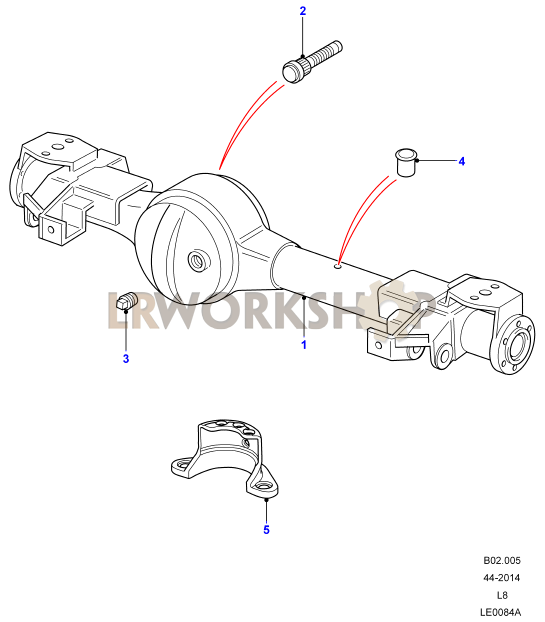 axle case assembly front
