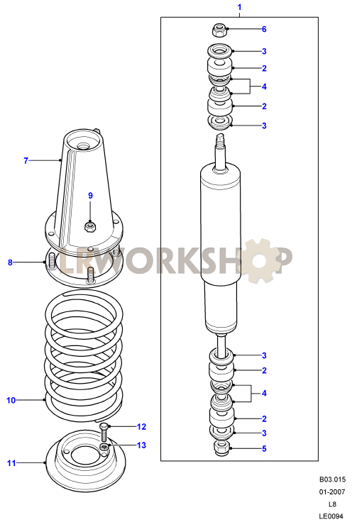 Shock Absorbers And Springs on 2006 Range Rover Part Diagrams