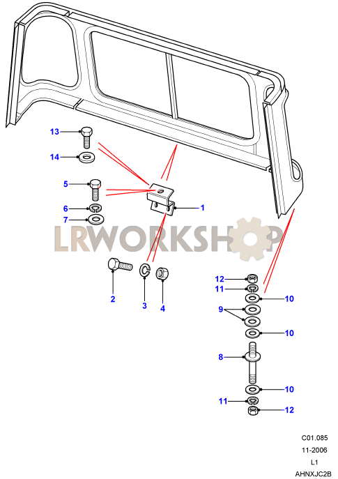 cab body panel fixings