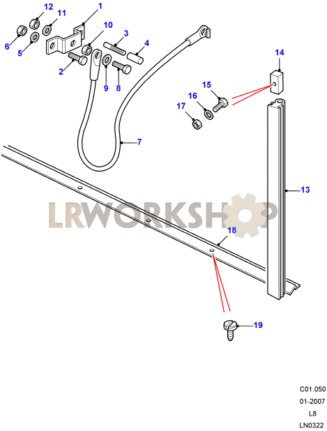 Cable - Rear Body Tailgate
