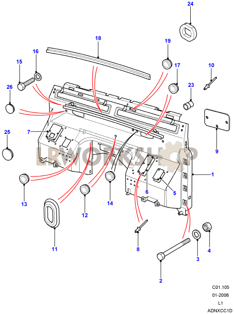 Dash Assembly on 2006 Range Rover Part Diagrams