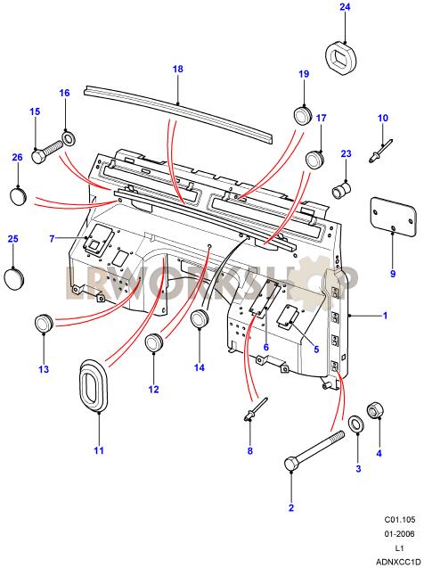 Dash Assembly  Bulkhead   Land    Rover       Workshop
