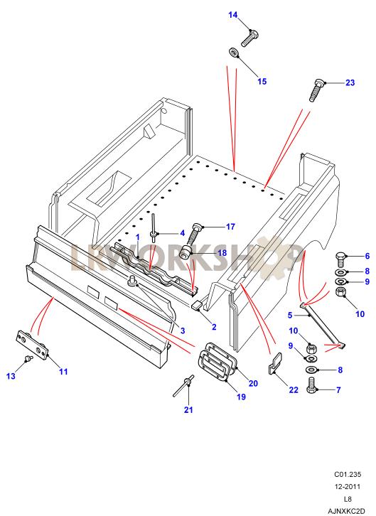 Rear Body Lower - Mountings