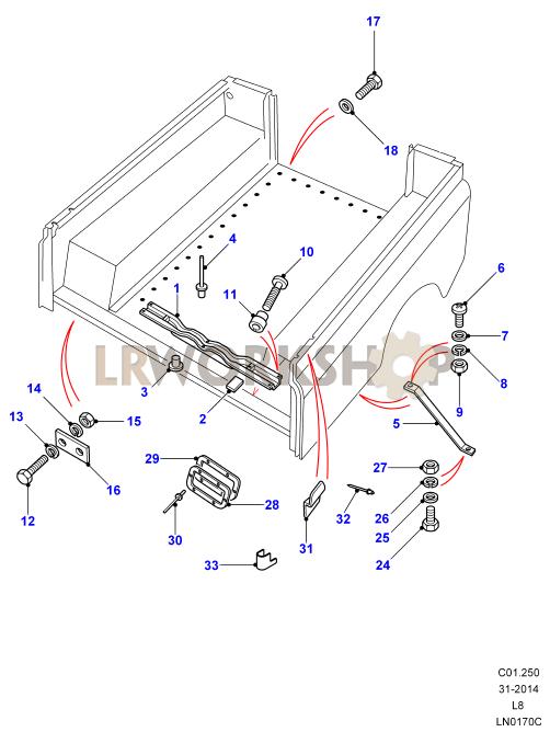 Land Rover Defender /& Série Arrière Corps crossmember AFC710010