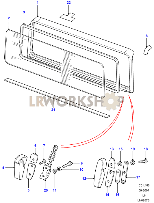 Windscreen Part Diagram