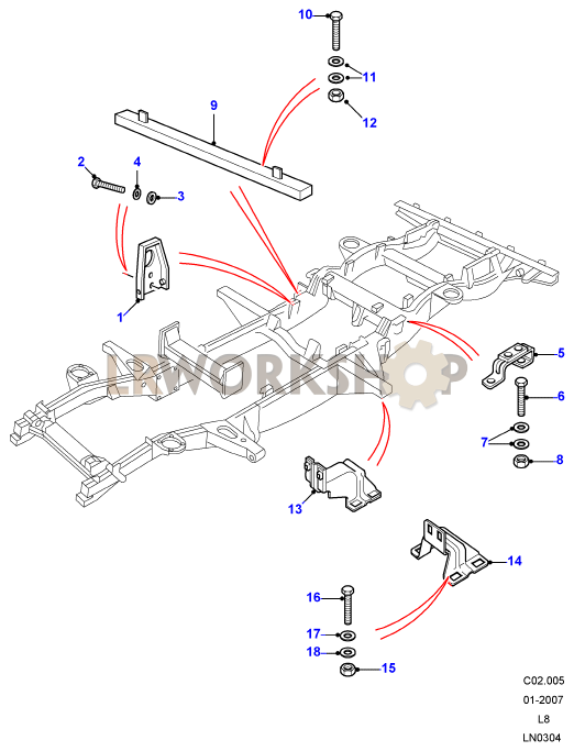 chassis fittings - 110  u0026 130