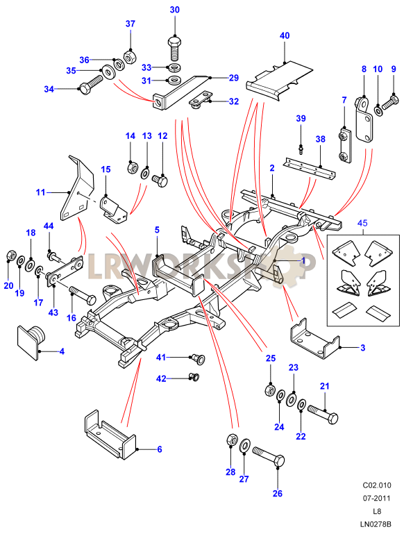 Chassis Frame Assembly - 90
