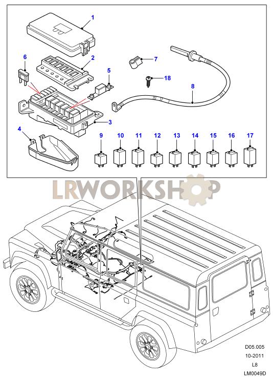 under seat fuse box - 2 4 tdci