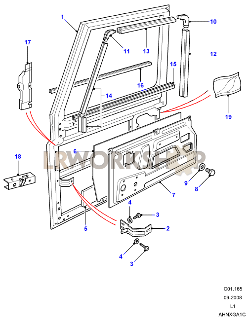 land rover defender front axle diagram