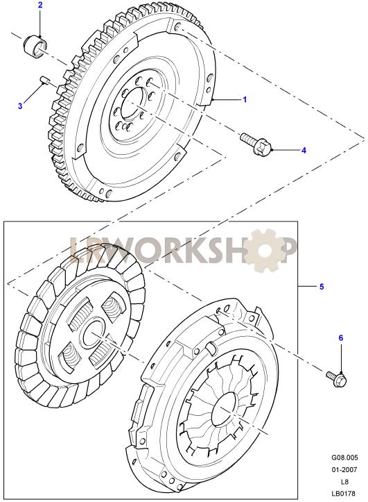 Clutch And Flywheel - 2 4 Tdci
