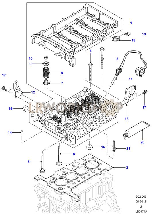 Cylinder Head - 2 4 Tdci