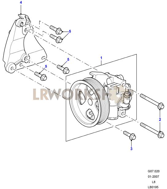 power steering pump - 2 2 tdci