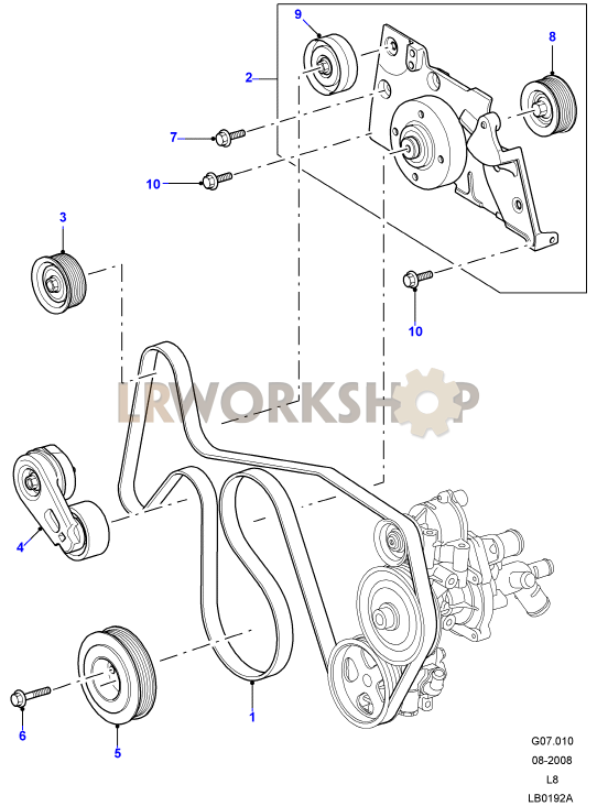 drive belts  u0026 pulleys without air con - 2 4 tdci