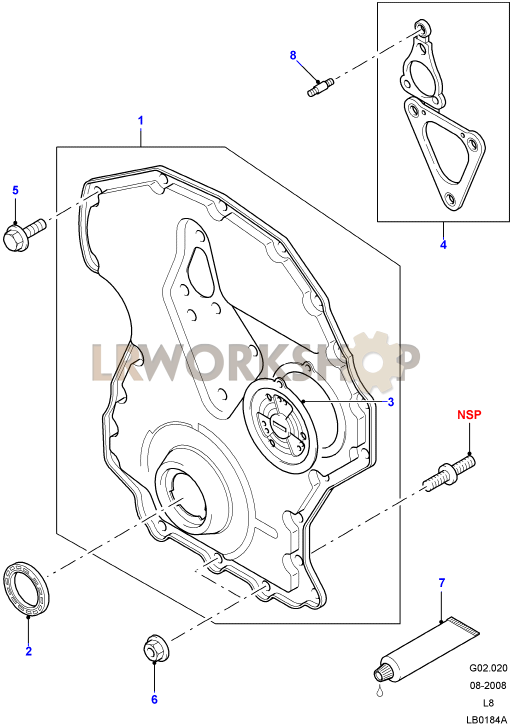 Timing Chain Cover - 2 4 Tdci