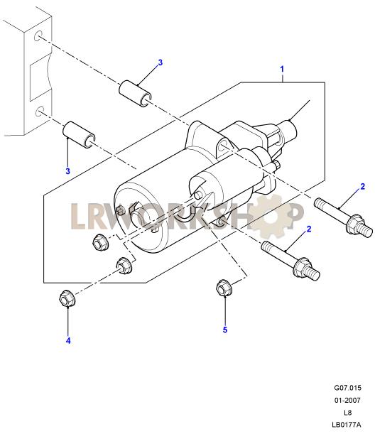 starter motor - 2 4 tdci
