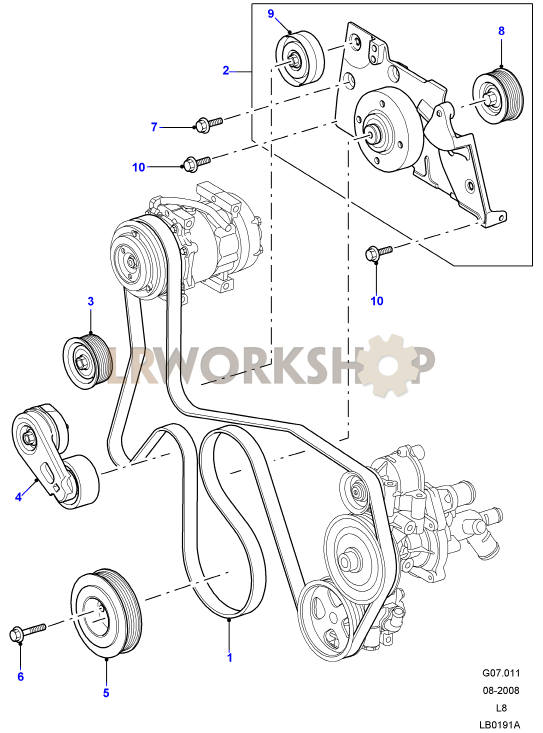 drive belts  u0026 pulleys with air con - 2 4 tdci