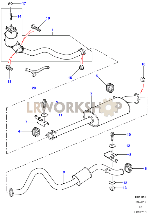 Exhaust System 110 - 2 4Tdci - Find Land Rover parts at LR Workshop