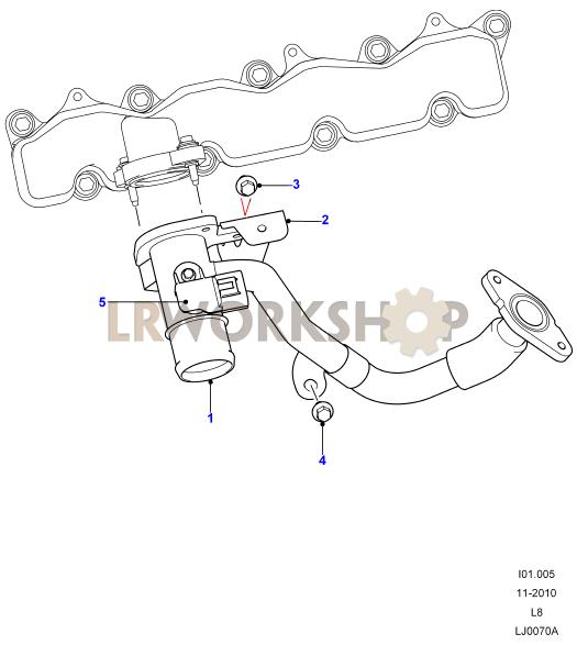 Egr Valves And Pipes 2 4 Tdci Land Rover Workshop
