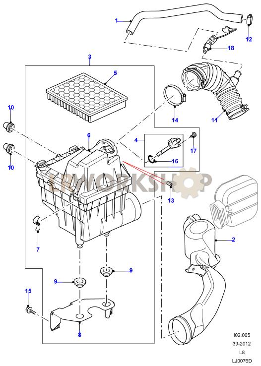 Air Filter - 2 4 Tdci  2 2 Tdci