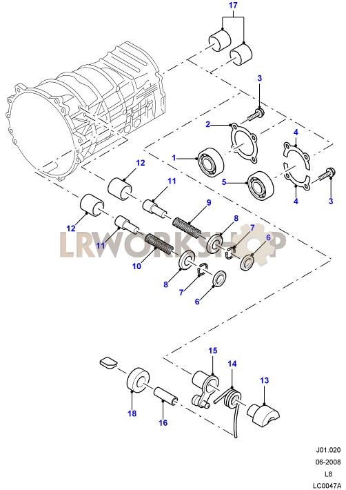 manual transmission components find land rover parts at lr  land rover transmission diagrams #15