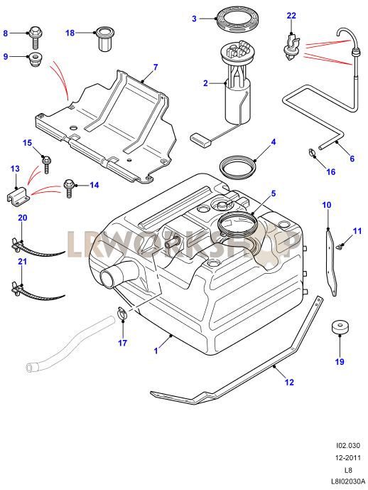 2007 range rover fuel tank diagram