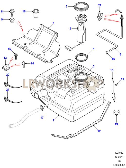 2007 range rover fuel tank diagram