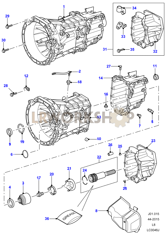 manual transaxle and case