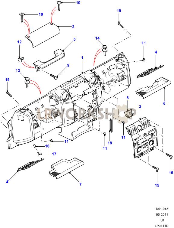 Facia Part Diagram: Land Rover County Ac Wiring Diagram At Johnprice.co
