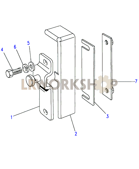 front door latch striker to aa270226 find land rover. Black Bedroom Furniture Sets. Home Design Ideas